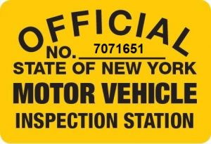 inspection station sign